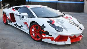 chris brown s lamborghini paint