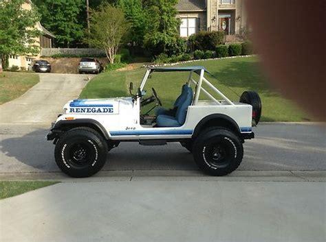 cj jeep lifted sell used 1982 jeep cj 7 renegade unrestored original