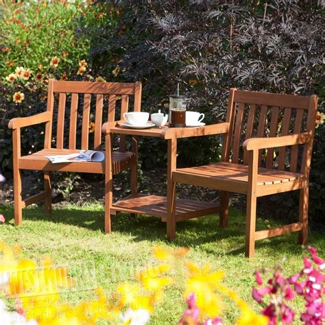 2 seater garden benches 2 seater hardwood companion garden bench from westmount