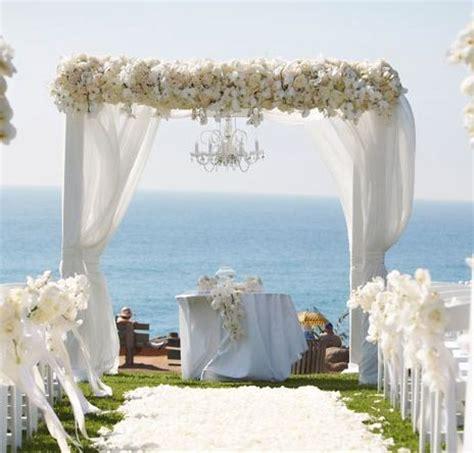 Wedding Arch White by Wedding Arch White Flowers Wood Arch Fabric