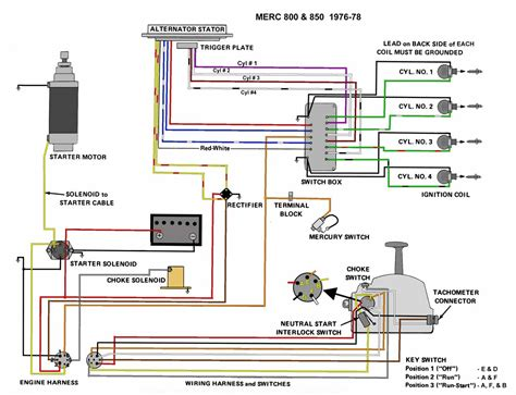 wiring diagram 1999 mercury outboard circuit and