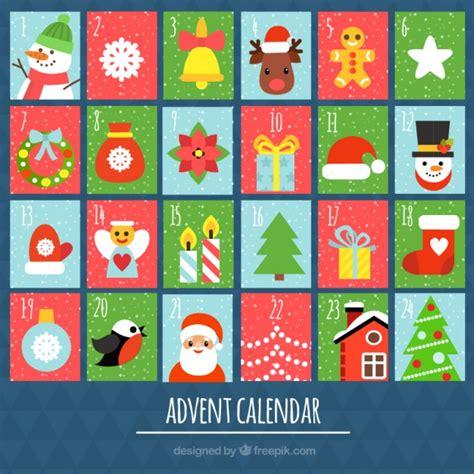 advent colors advent calendar of colors vector free