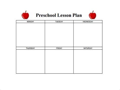 best photos of toddler weekly lesson plan template