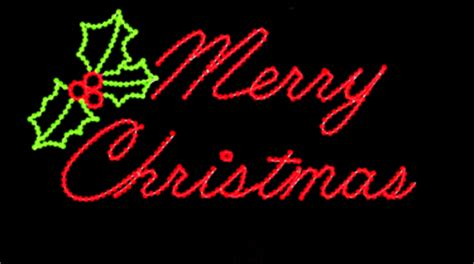 lighted merry christmas sign outdoor merry script led