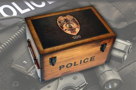 Officer Gifts by Custom Department Badge Keepsake Box