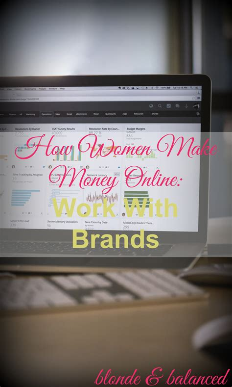 How To Make Money Online For Women - make money online work with brands blonde balanced