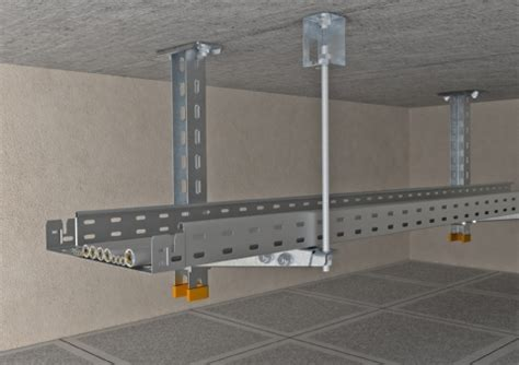 Ceiling Cable Tray System Description Cable Tray Rks Magic 174 With Support And Bracket