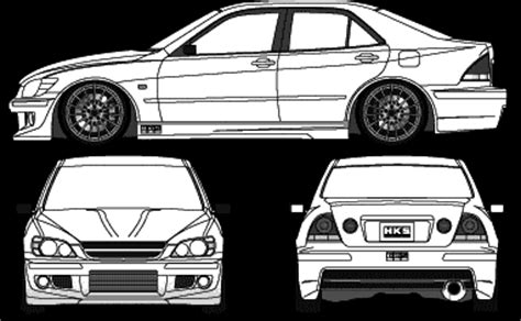 lexus is300 drawing car hks altezza the photo thumbnail image of figure