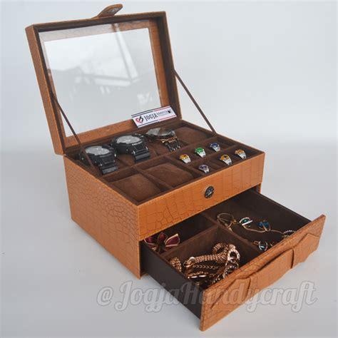 Tempat Jam Tangan Mix Aksesoris Baby Pink kotak tempat jam tangan sport mix tempat perhiasan brown croco