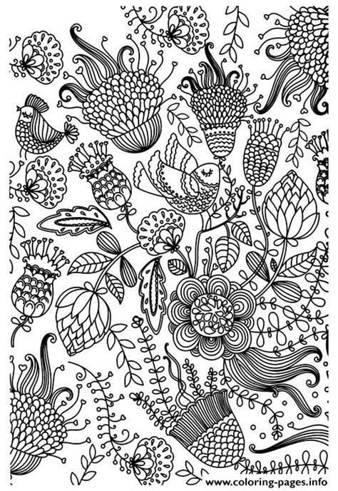 coloring book birds and flowers stress relief coloring book garden designs mandalas animals florals and paisley patterns books zen antistress flowers coloring pages printable