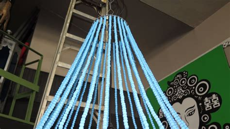 sea breeze ceiling large beaded sea breeze blue hanging ceiling l approx