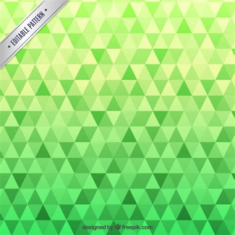 vector pattern background green green pattern with triangles vector free download