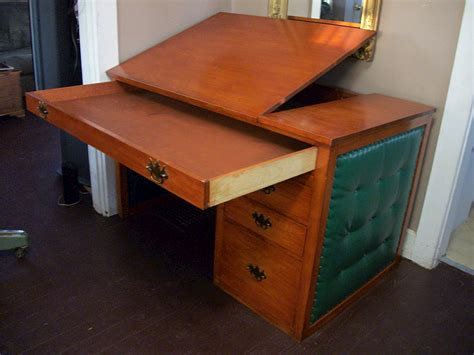Mid Century Modern Desks For Sale Vintage Cherry Desk Mid Century Modern Drafting Table Writing Deco For Sale