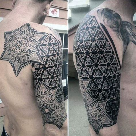 shape pattern tattoo 100 pattern tattoos for men symmetrical design ideas