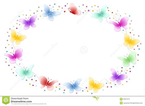 butterfly frame stock images image 2357374