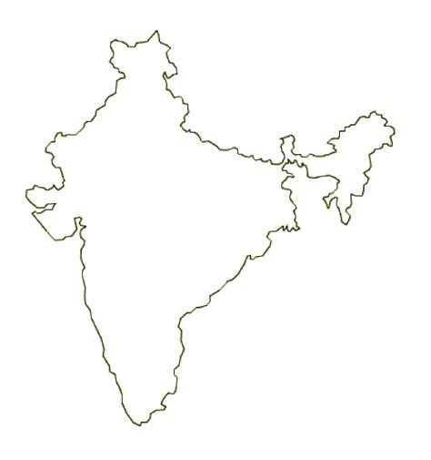 Country Outline by Image Gallery India Country Outline