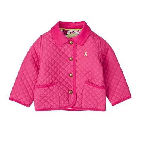 Joules Baby Girls Quilted Jacket   Pink   Free UK Delivery*