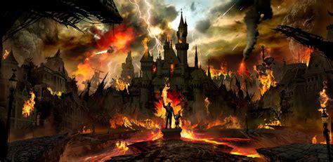 art post apocalyptic disneyland  digital concept