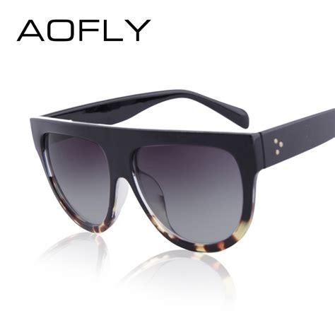 aliexpress glasses aofly 2016 fashion sunglasses women flat top style brand