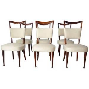 1950s Dining Room Furniture Set Of 6 Dining Room Chairs By Osvaldo Borsani Italy 1950s At 1stdibs