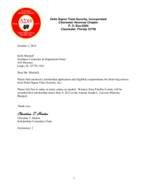 Letter Of Intent Sorority Homework Helpline Pinellas County Schools
