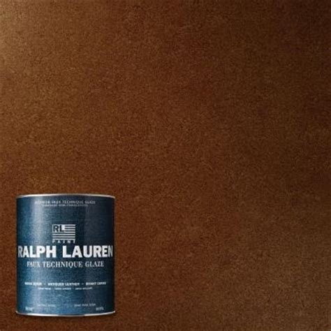 ralph 1 qt chestnut antique leather specialty finish interior paint al13 04 the home depot