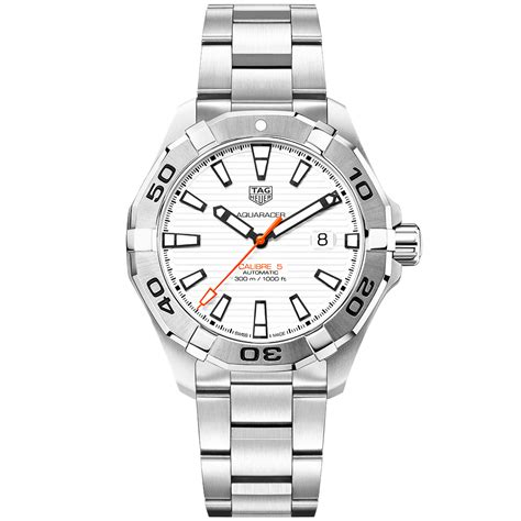 TAG Heuer Aquaracer Calibre 5 White Opalin Dial Men's Automatic Watch