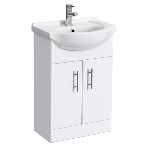 white gloss bathroom vanity unit alaska high gloss white vanity unit with ceramic basin