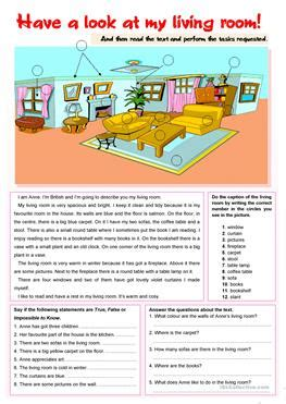 133 free esl rooms in the house worksheets