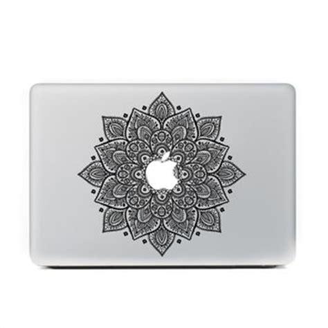 Apple Mac Book 13 Decal Mac Eye black mandala floral macbook skin decal from retina designs