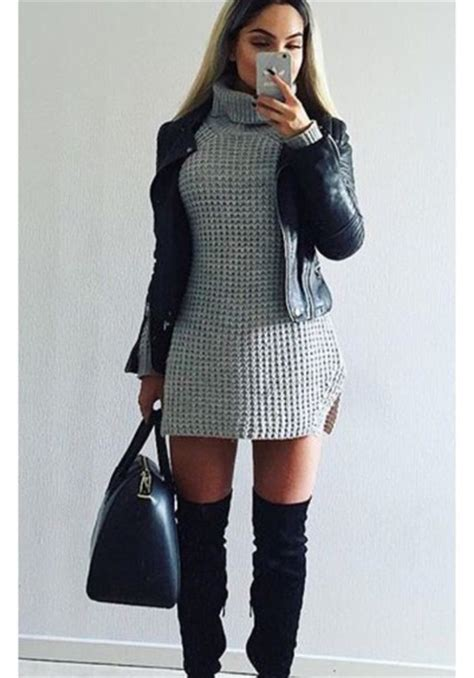 leg l sweater dress sweater dress sweater grey grey dress grey