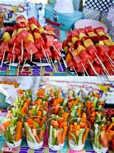 cookout love this idea of the fruit skewers and veggie