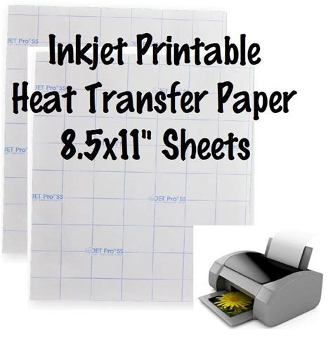 printable heat transfer material silhouette 1 sheet jet opaque inkjet transfer paper printable heat