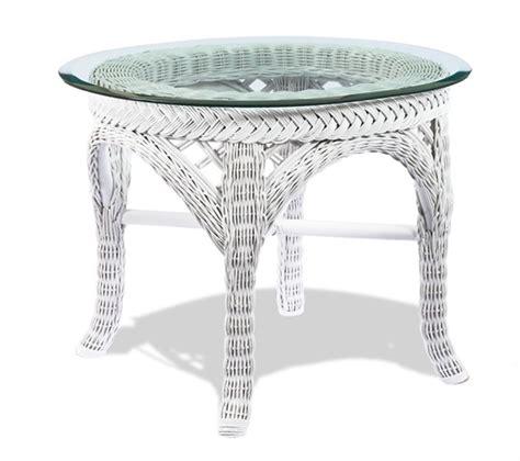 White Wicker Table by White Wicker End Table Lanai Wicker Paradise