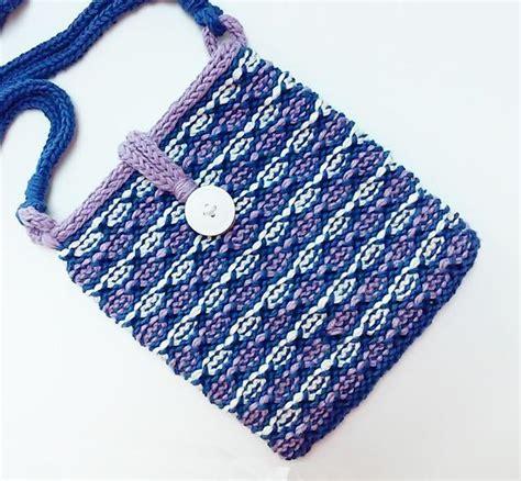 Pouch Organizer Travel Bag Versi 2 Flower Dks lotus flower bag knitting patterns and crochet patterns from knitpicks