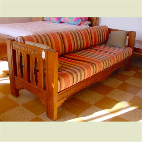 Sofa With Wood Frame by Handmade Wood Frame Sofa Artisans Of The Desert