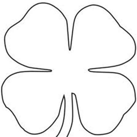 coloring pages of four leaf clover four leaf clover printable four leaf clover sheats