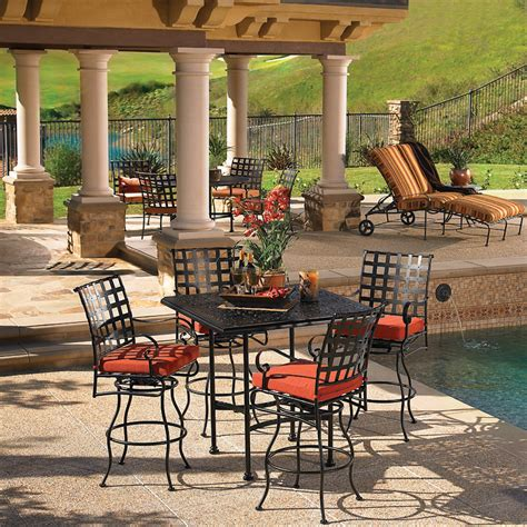 patio furniture hawaii ow classico w hi top set ow classico set3
