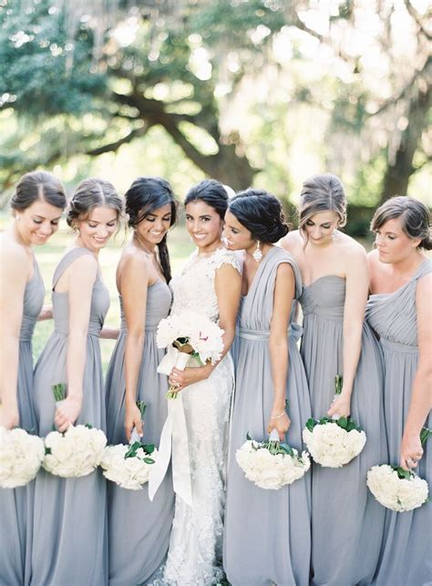 Best 25  Silver grey bridesmaid dresses ideas on Pinterest