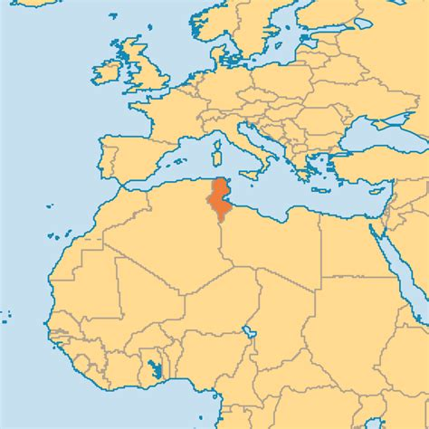 where is tunisia in the world map tunisia operation world