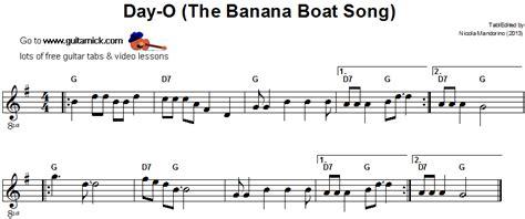 THE BANANA BOAT SONG Easy Guitar Lesson: GuitarNick.com