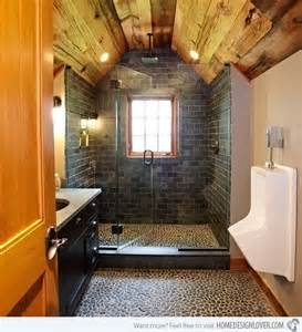 Garage Bathroom Ideas by 15 Bathroom Designs Of Rustic Elegance Home Design Lover