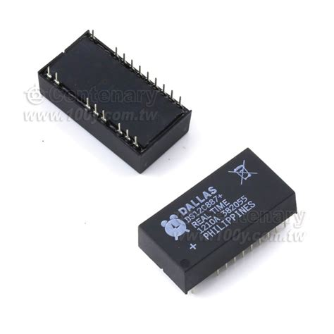 Komponen Ic Ds12c887 Real Time Clock Chip ds12c887 dallas real time clock ic 無鉛