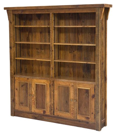 reclaimed wood bookcase woodland creek furniture