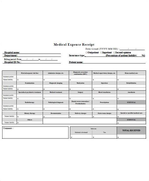 expense receipt template for hotel 7 expense receipt template exles in word pdf