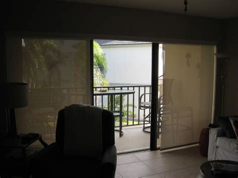 Solar Blinds For Sliding Glass Doors Three Solar Shades On Sliding Glass Door With Continous Valance Style Ta By