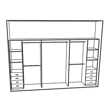 Fitted Wardrobe Plans by 25 Best Ideas About Built In Wardrobe On Wall