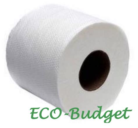 ecobudget bathroom tissue roll anti clogging water soluble flushable