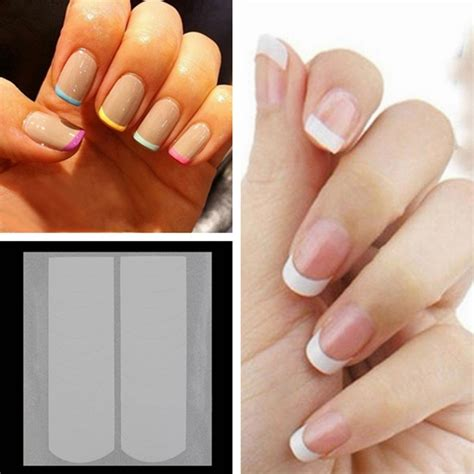 Styles That Stick Manicure 6 styles manicure wavy arc fringe tip nail stick