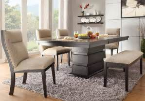 Dining Room Set With Bench tanager contemporary dining set with fabric chairs and bench
